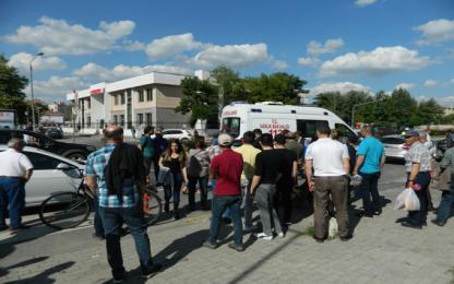 Gençlik Merkezi önünde kaza